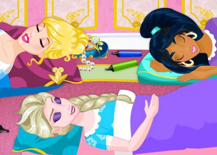 3 princesses en pyjama