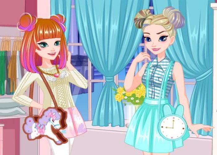 Elsa et Anna habillage au Japon