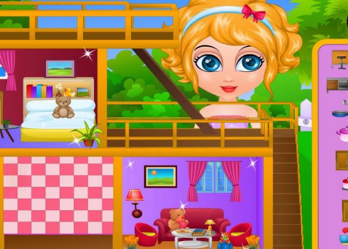 Maison de poupée décorée