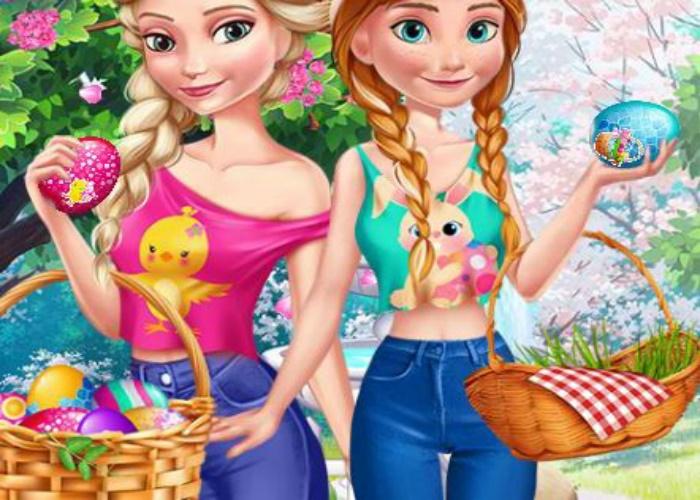 Pâques avec Elsa et Anna