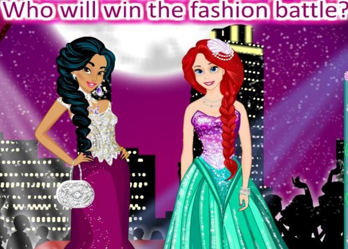 Jasmine et Ariel bataille de mode