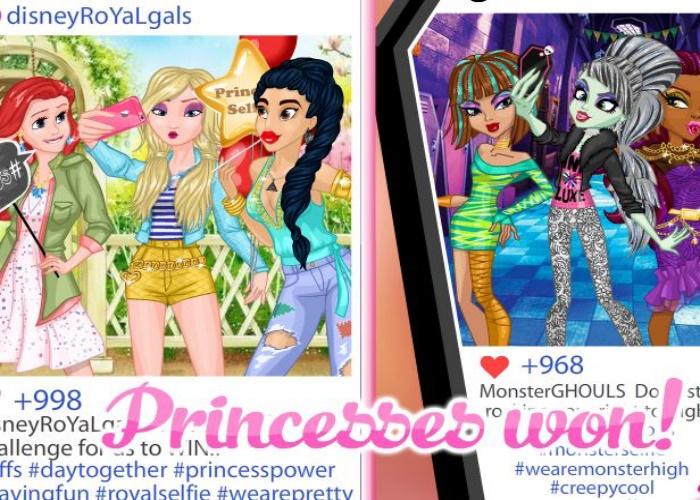 Concours de Selfie princesses monsters