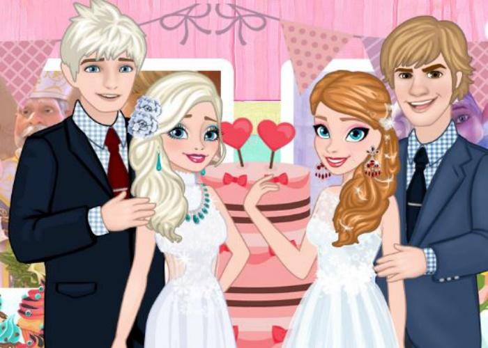 Mariage des 2 soeurs Frozen
