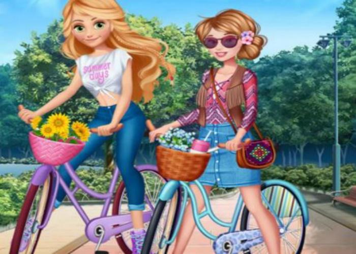 2 princesses à vélo