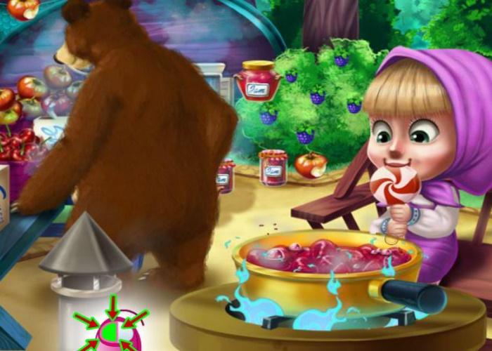 Masha et l'ours en cuisine
