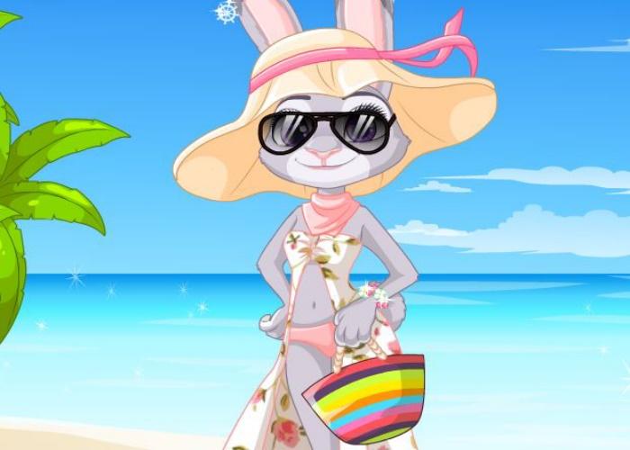 Judy à la plage