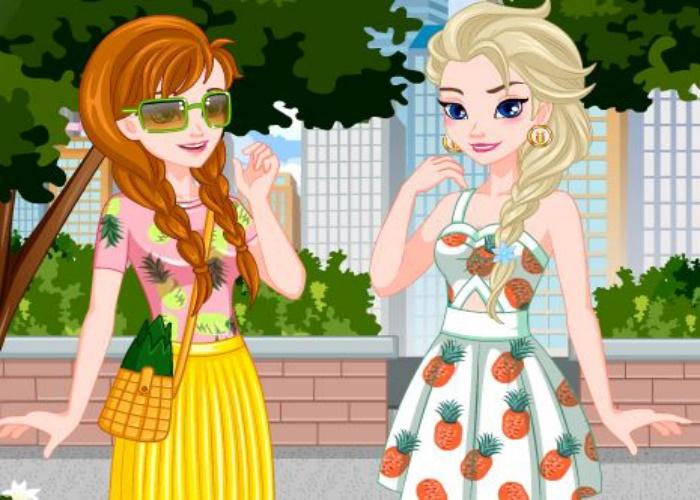 Anna et Elsa tenue d'été