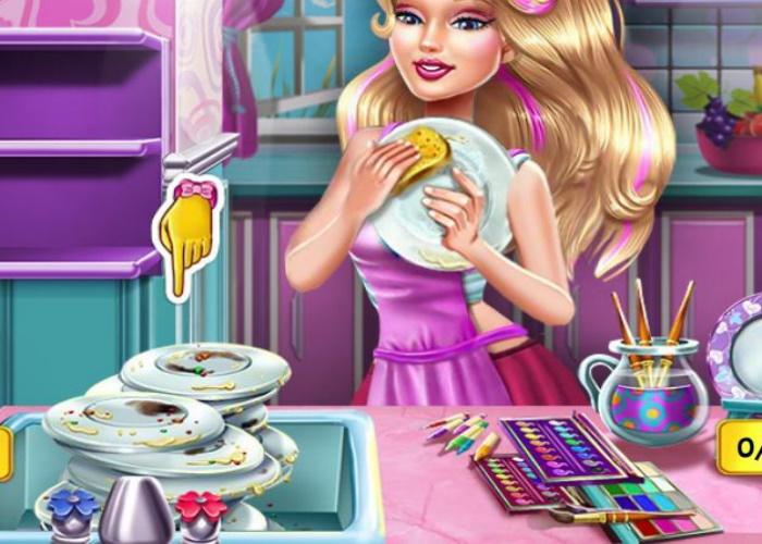 Belle vaisselle lavée et décorée