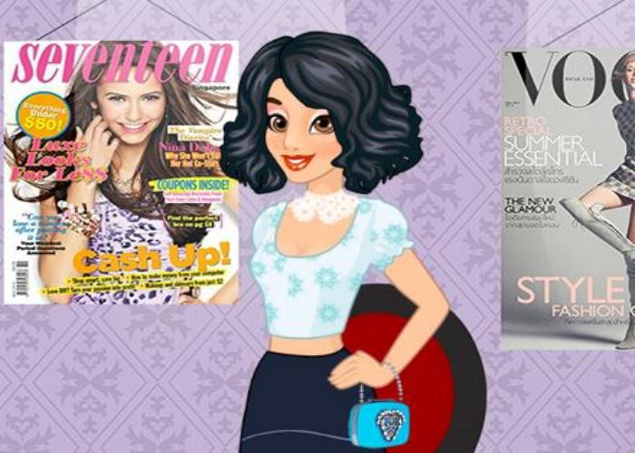 Jasmine dans un magazine