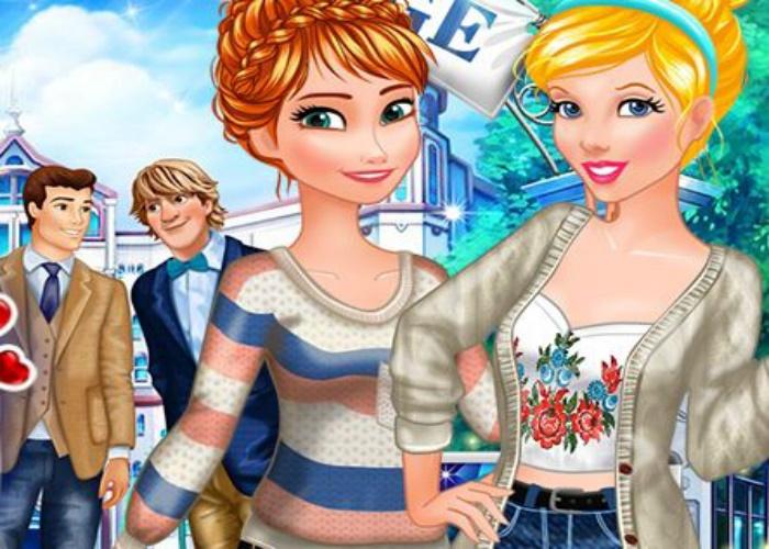 Cendrillon et Anna amoureuses