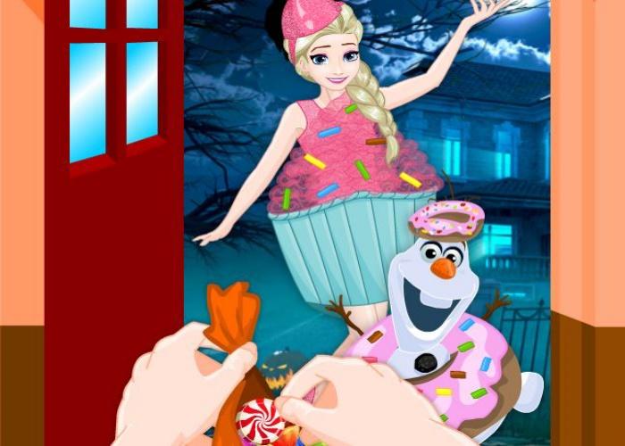 Chasse aux bonbons Elsa et Anna