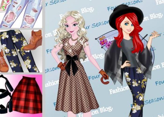 Ariel et Elsa en 4 saisons