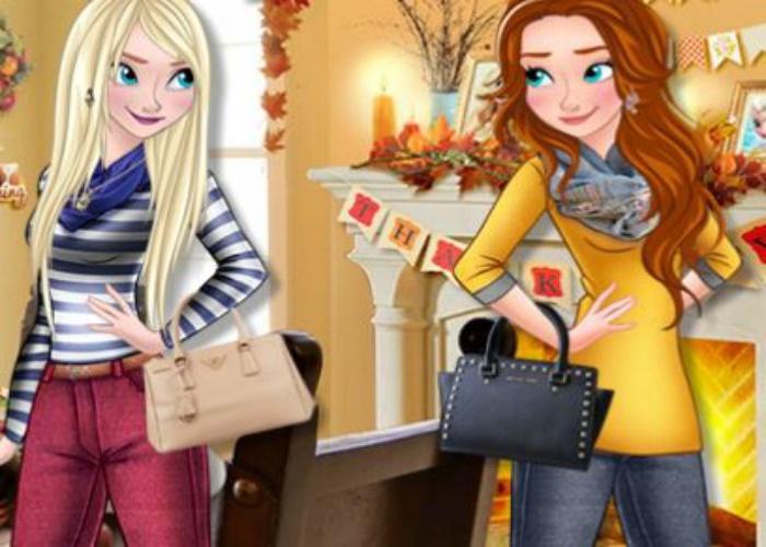 Thanksgiving chez les soeurs Frozen