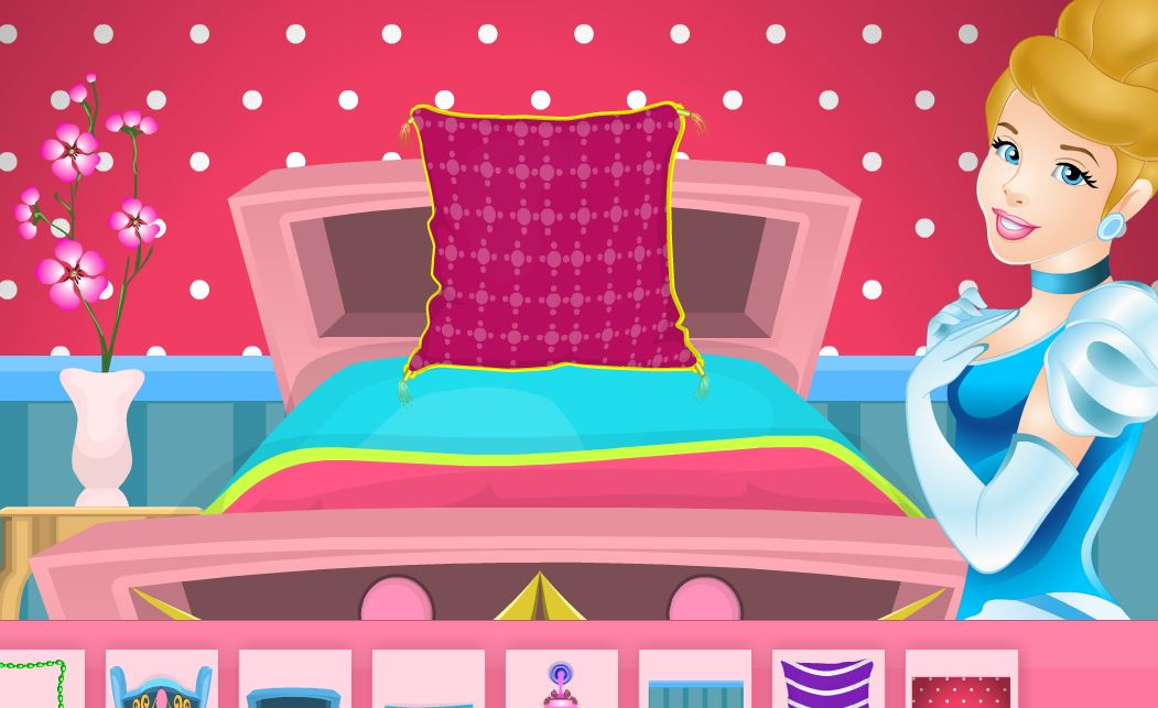 chambre de cendrillon sur jeux fille gratuit. Black Bedroom Furniture Sets. Home Design Ideas