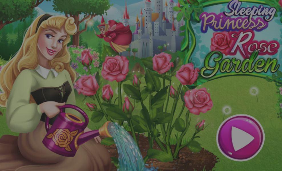 Aurore et son jardin de roses