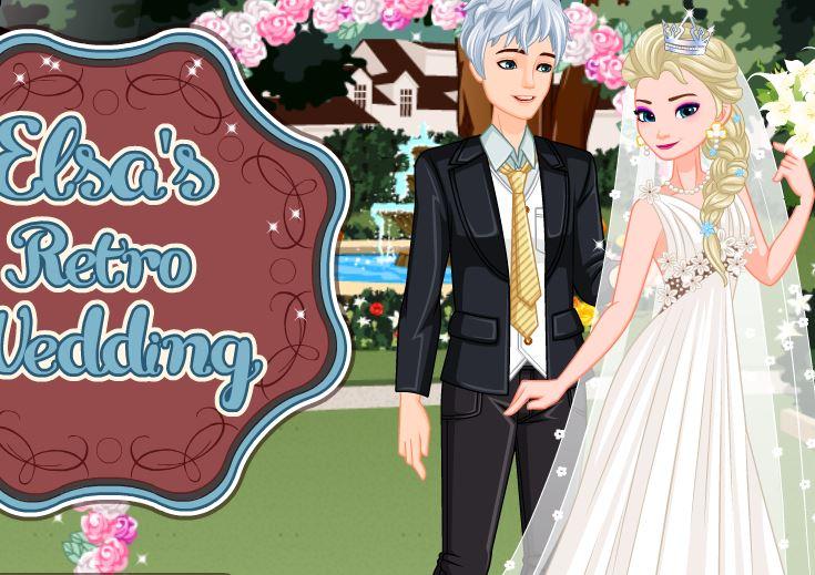 Mariage rétro pour Elsa et Jack