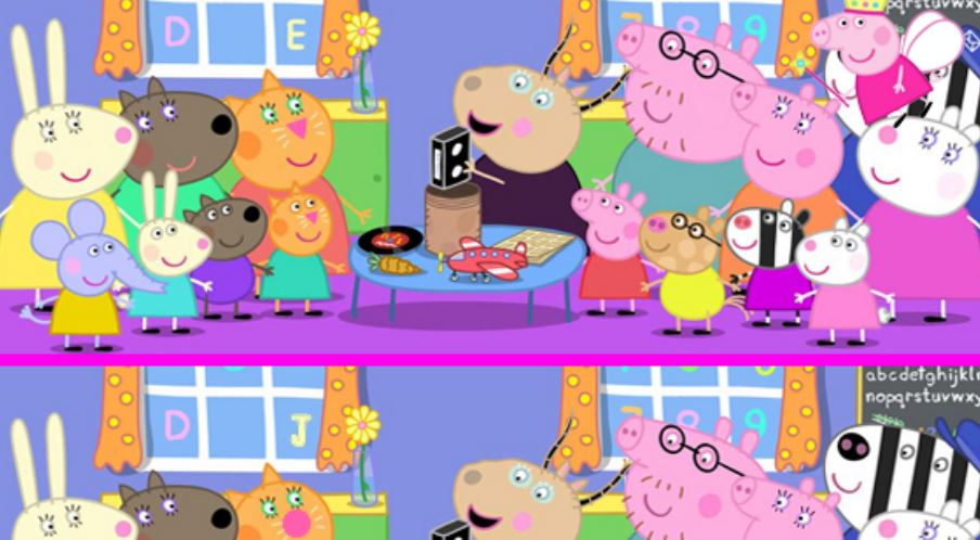 Différences chez Peppa Pig
