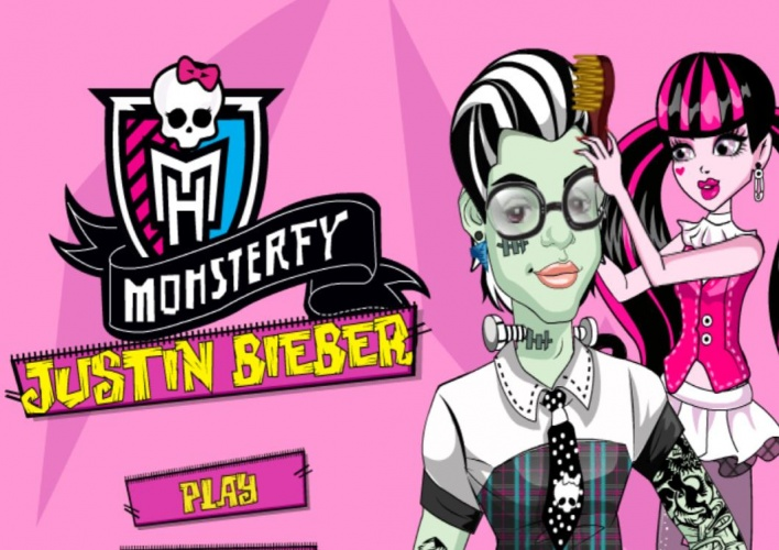 Transformation de Bieber en Monster High