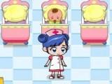 Infirmière au soin de bébé