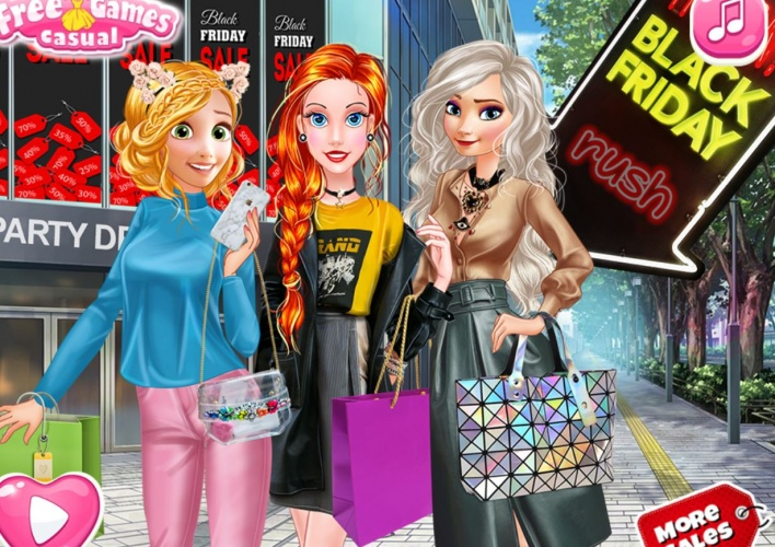 Shopping princesses Black Friday 2
