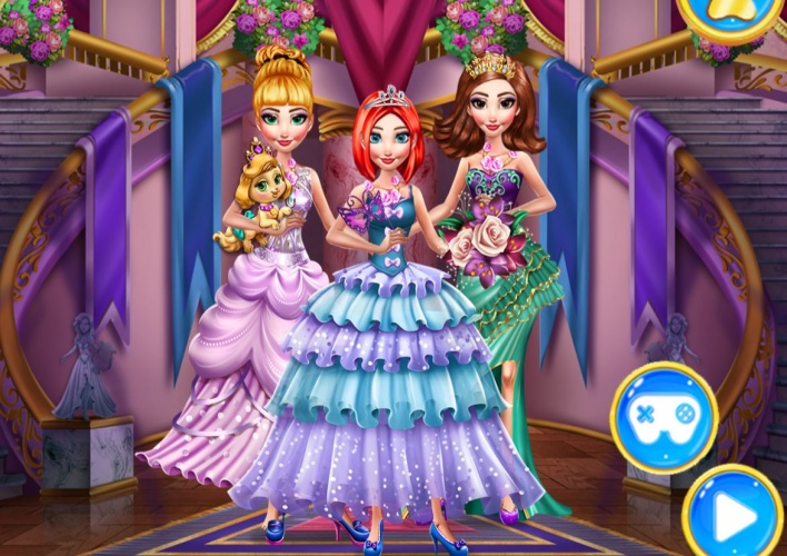 3 princesses royales à habiller