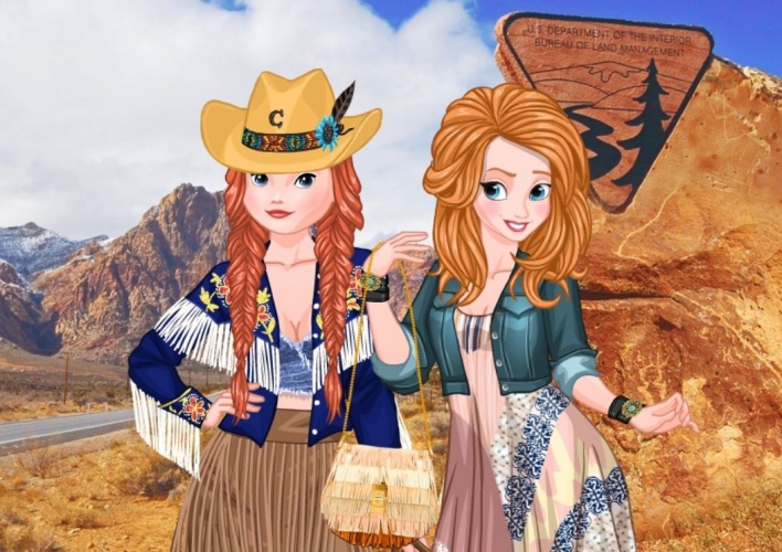 2 princesses Cow Girl