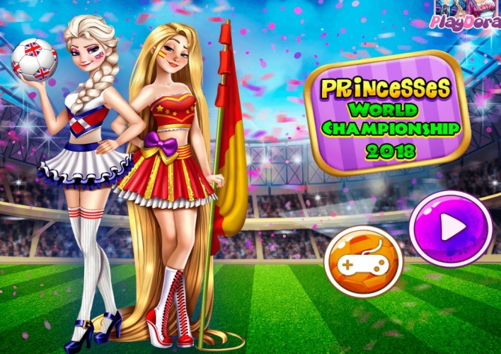 Princesses supporters au foot