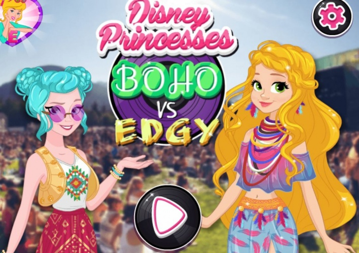 Princesses boho vs edgy
