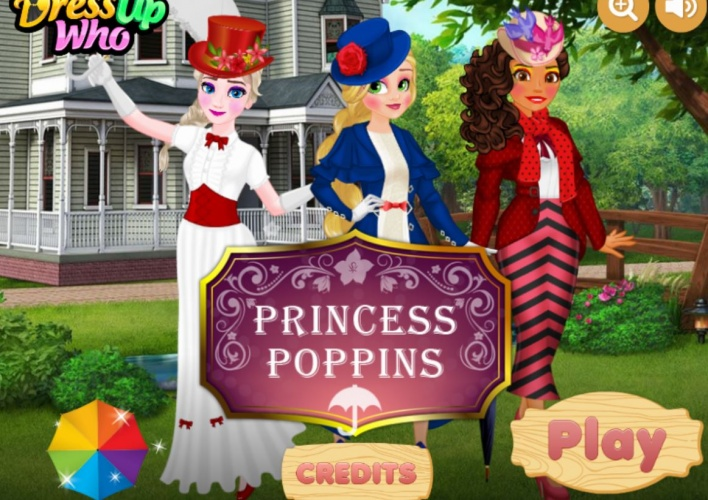 3 princesses Mary Poppins