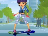 Skate boardeuse