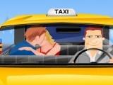 Bisou dans le taxi
